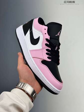 "Air Jordan 1 Low GS ""Light Arctic Pink""黑粉"
