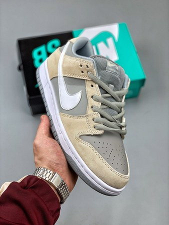 Nike SB Dunk Low Summit White Wolf Grey TRD北极狐灰-莆田红馬复刻鞋