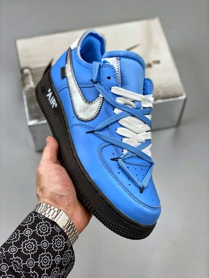 "Off-White x Nike Air Force 1'07""MCA Blue""空军一号-莆田红馬复刻鞋"